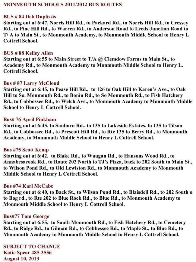 bus routes 2013-2014