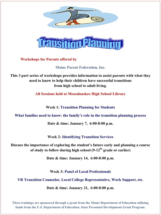 transition planning workshops